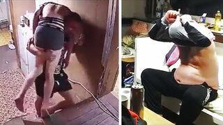 Niebezpieczne schody w domu. Rosja