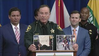Szeryf Florydy Grady Judd mówi różnicy pomiędzy pokojowymi protestami, a szabrownikami