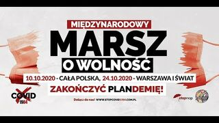 Zapowiedź Protestów w całej Polsce - Marsz o Wolność - 10.10.2020 - Zakończyć PLANdemię !