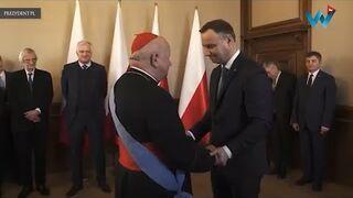 """""""Jego eminencja"""" Tak prezydent Andrzej Duda wręczał kardynałowi Dziwiszowi Order Orła Białego"""