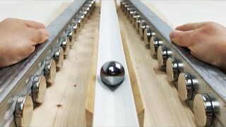 Kulka napędzana magnesami neodymowymi