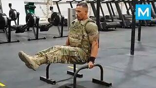Najsilniejszy żołnierz w Armii na siłowni - Diamond Ott