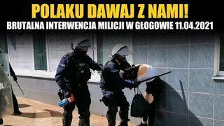 Brutalna interwencja milicjanta w Głogowie 11.04.2021