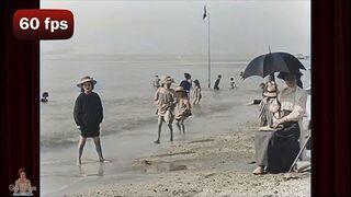 Dzień na plaży w 1899 r. w 4K i 60 fps