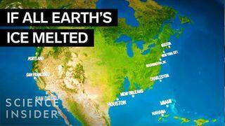 Jak wyglądałaby Ziemia, gdyby całość lodu się stopiła.