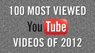 100 filmików z YouTube z największą oglądalnością 2012