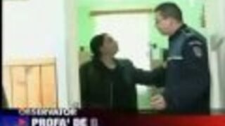 Rumuńska nauczycielka vs policjant !