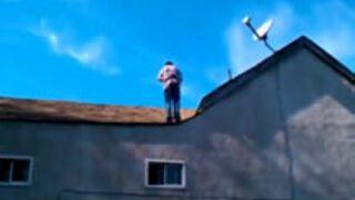 Backflip z dachu