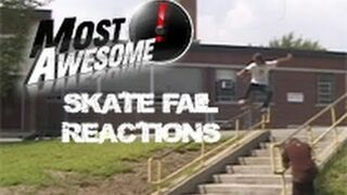 Most Awesome SKATE FAIL Reactions