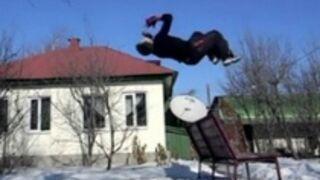 Backflip - Głową o ławkę
