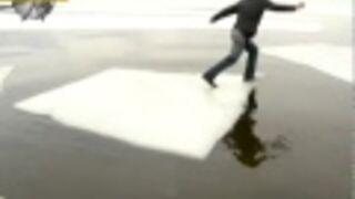 FAIL'S WORLD : Ice Crossing Fail