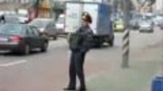 FAIL'S WORLD : DRUNK Russian Moscow policeman