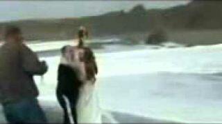 Sesja ślubna nad morzem FAIL