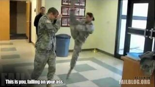 Military Kick FAIL
