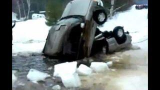 Towing a car form a lake fail
