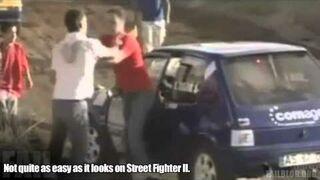 Ninja Kick on Car FAIL