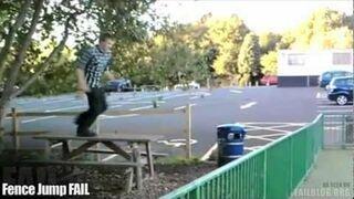 Skok przez barierkę