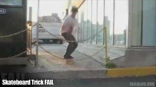 Trik na desce - FAIL