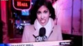 Wpadka dziennikarki z katarem