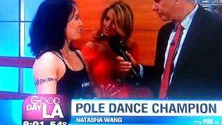 Pole Dance Fail on Live TV