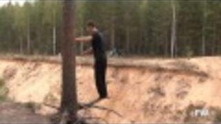Double Backflip off Tree Fail