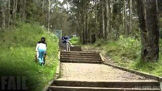 Biking Down Stairs FAIL
