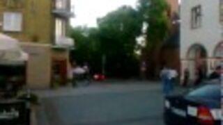 Ucieczka z radiowozu - Olsztyńskia Starówka