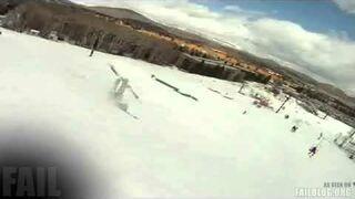 Ski Backflip FAIL