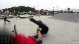 Skate Park Etiquette FAIL