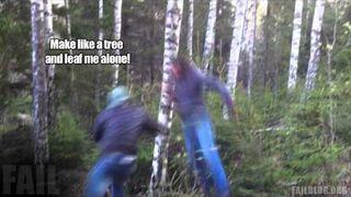 Amateur Lumberjack FAIL