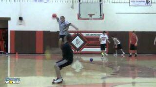 Kid Backflips Over Dodgeball