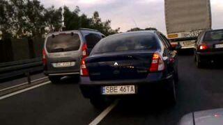 Kobieta za kierownicą cieszyn Bielsko korki SB