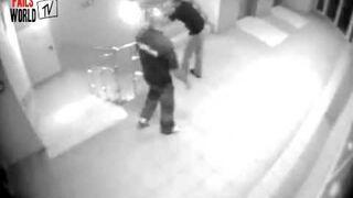Drunk Men VS Nightclub Stairs