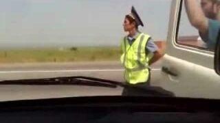 Wypadek na oczach policji