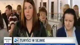 Turyści w Sejmie