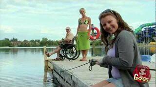 Disabled Man Falls In Water Prank