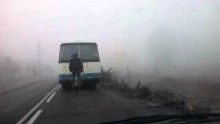 Rowerem za autobusem