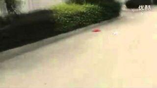 Chiny: Transprot betonowego słupa