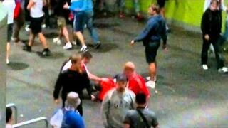 Rosja - Czechy (4:1) Ruscy zadymiarze na EURO 2012 we Wrocławiu