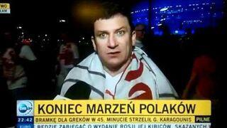 ZDENERWOWANY KIBIC PO MECZU POLSKA-CZECHY