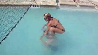 Swimming Pool Acrobatics