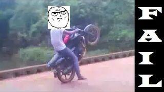 Where NOT to do a wheelie