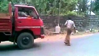 Ciężarówka rozjechała pijaka