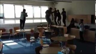 Gangnam Style Table Wipeout!