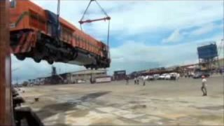 Locomotive Dropped on Delivery
