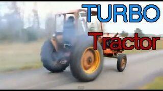 Tractor - the engine of the Volvo 240 turbo / Трактор - монстр