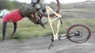 Dłuuugi lot...rowerem