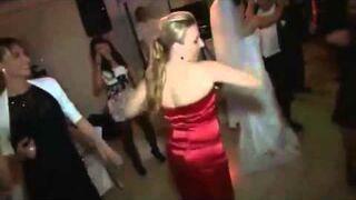 Funny Dancing Girl at a Wedding