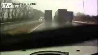 Near head-on with semi truck