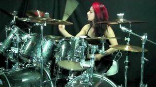 """Lux Drummerette - Slayer """"Postmortem"""" - Drum Cover"""